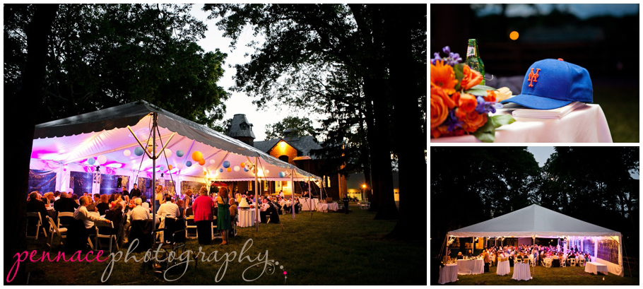Tented wedding reception at Liberty Hall Museum