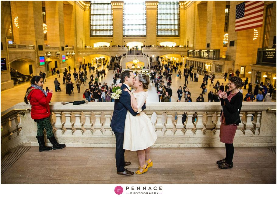 Wedding ceremony in Grand Central Terminal