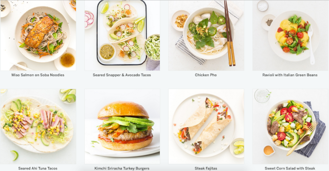 Munchery Meal Kit Food Options