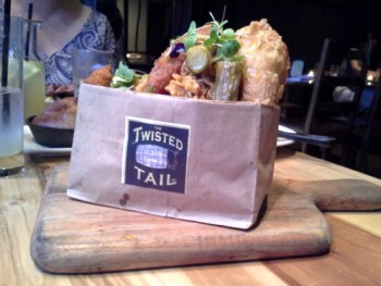 Fried chicken in a bag:  It's in a bag