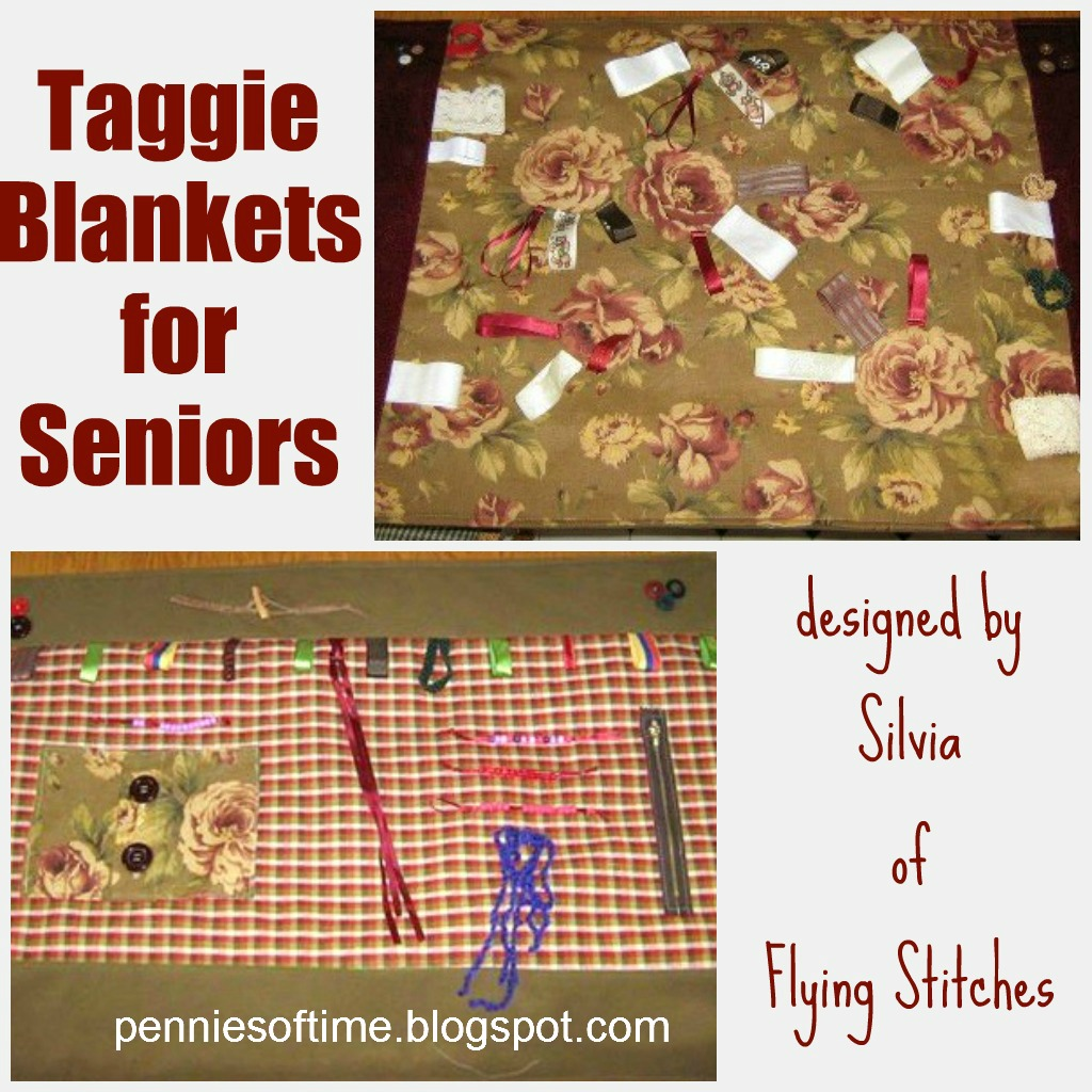 Taggie blanket for the elderly