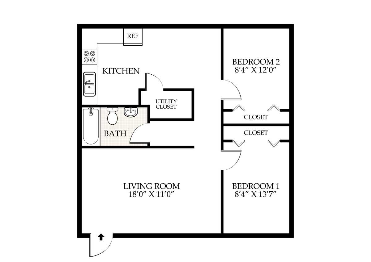 1 Bedroom 2 Bathroom House Plans Penningroth Apartments Iowa City Iowa