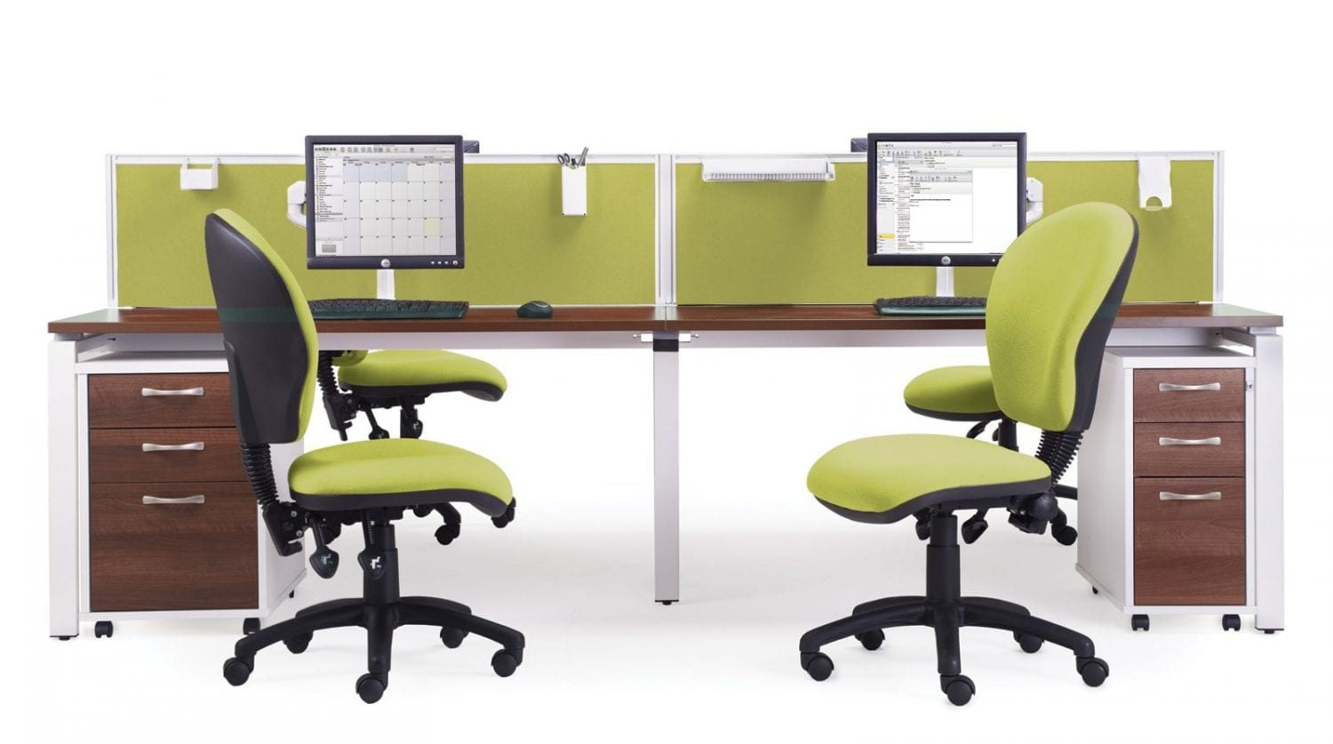 Two Person Work Station E1212 2 Person Bench Desk System Penningtons Office