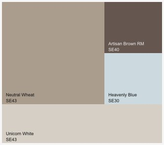 Colour blocking my main living space pennycharmer - Grey and brown colour scheme ...