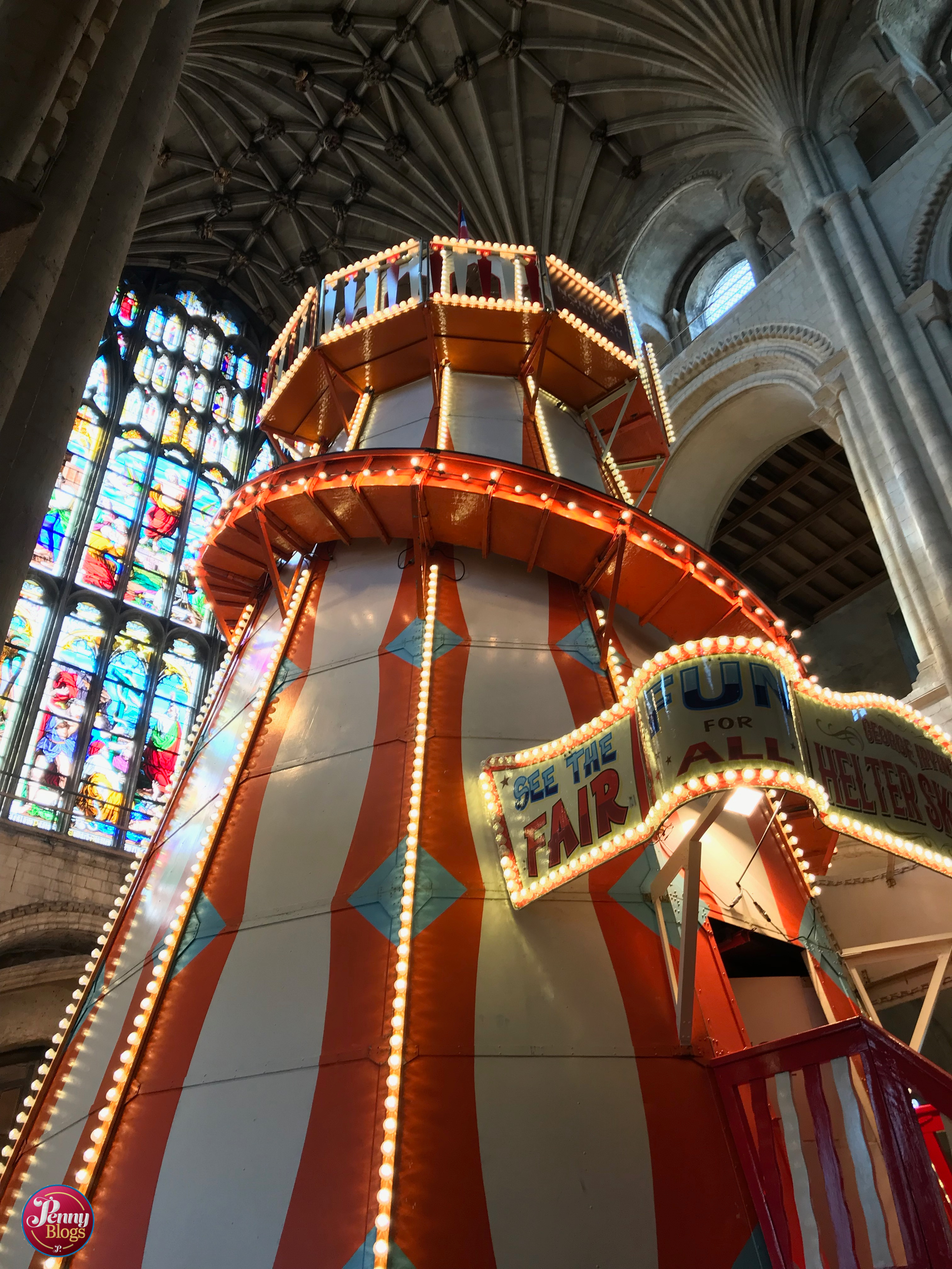 Air Ride Norwich Riding The Helter Skelter At Norwich Cathedral Penny Travels