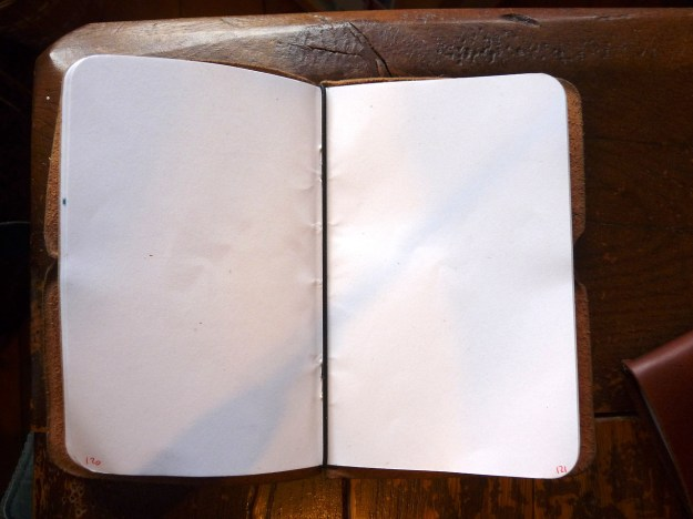 Davis Leatherworks cover with notebook