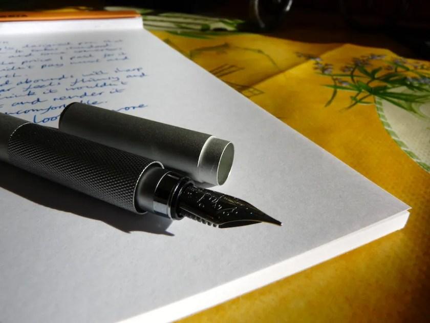 MUJI Fountain Pen uncapped