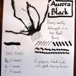 Aurora Black Inkling doodle