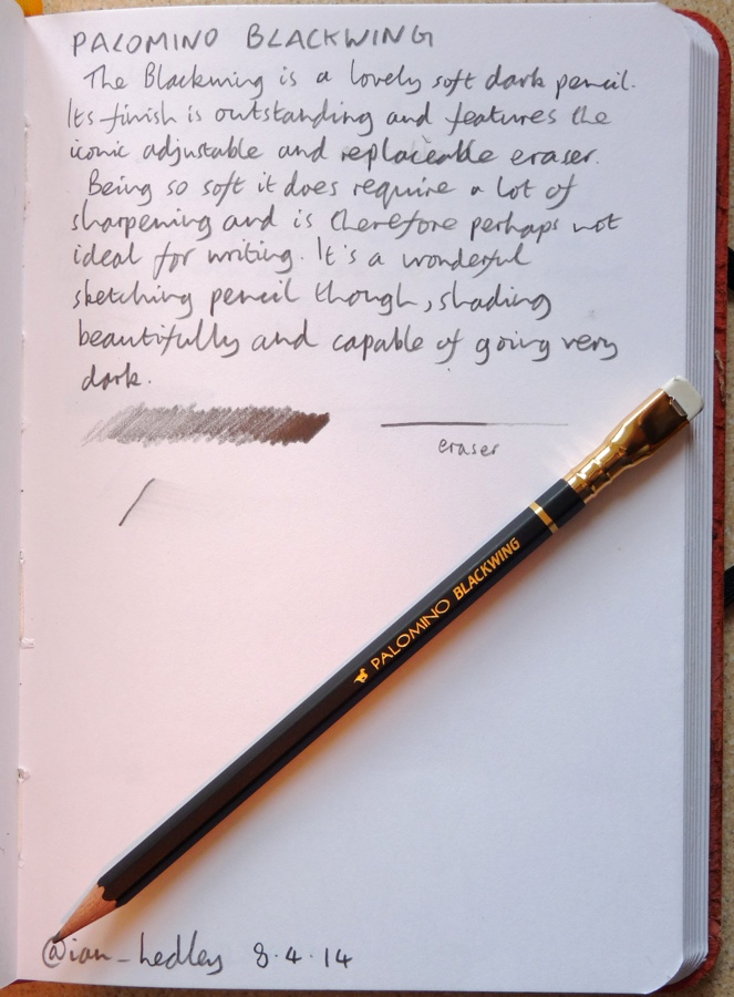 Palomino Blackwing pencil handwritten review
