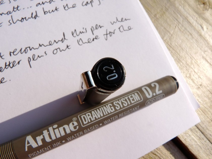 Artline Drawing System drawing pen end of cap