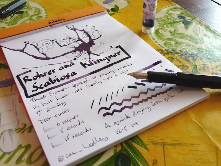 Rohrer and Klingner Scabiosa ink review