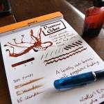 Diamine Ochre ink review