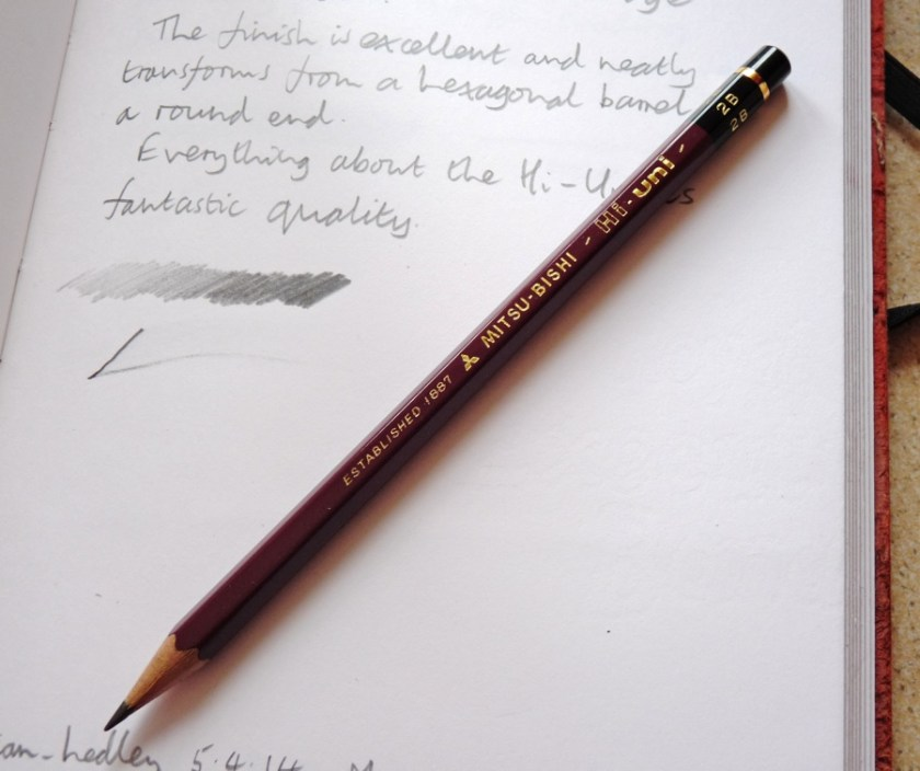 Mitsubishi Hi-Uni pencil branding