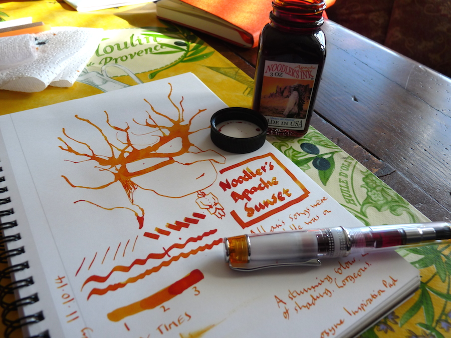 Noodler's Apache Sunset ink review