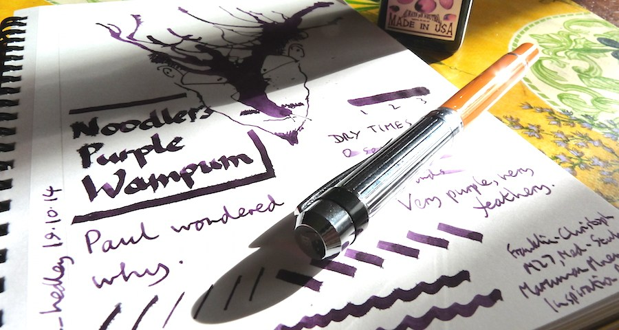 Noodler's Purple Wampum ink review