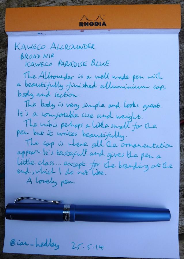 Kaweco Allrounder fountain pen handwritten review