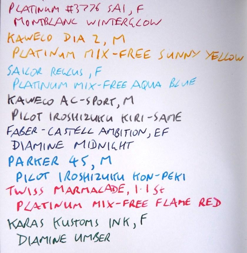 Midori Travelers Notebook Refill 003 plain ink test front