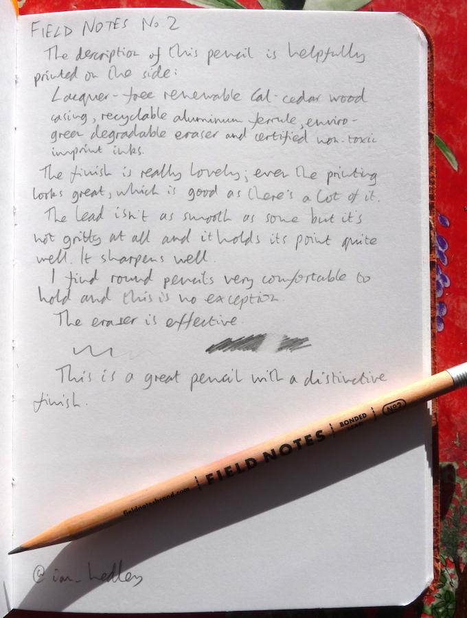 Field Notes No2 Pencil Handwritten review