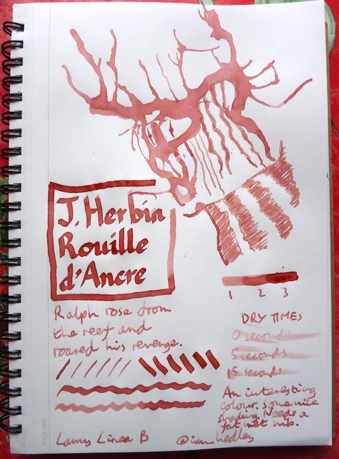 J Herbin Rouille dAncre Inkling