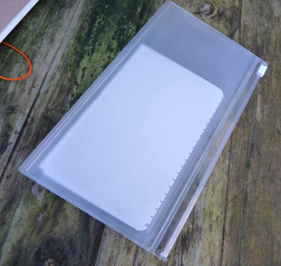Midori Travelers Notebook Refill zipped plastic wallet
