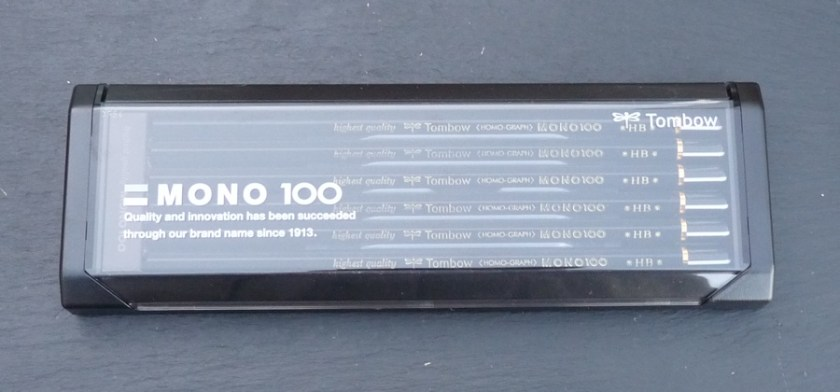 Tombow Mono 100 pencil in a closed box