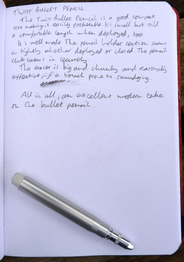 Twist Bullet Pencil handwritten review