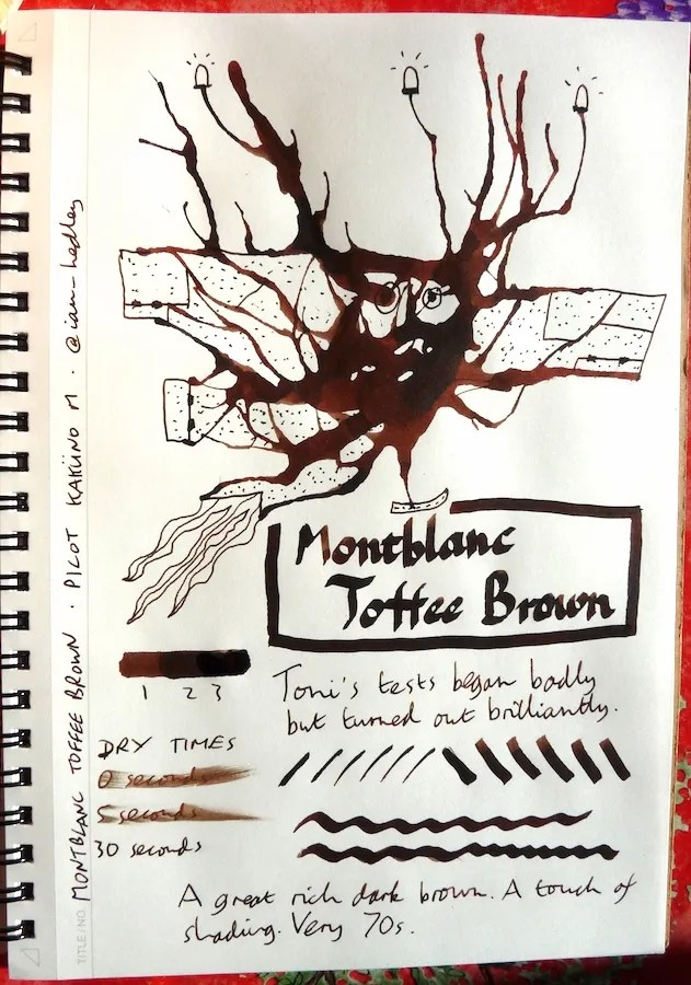 Montblanc Toffee Brown Inkling doodle