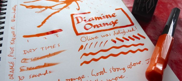 Diamine Orange ink review