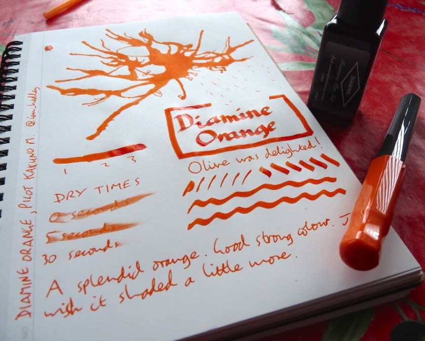 Diamine Orange ink review