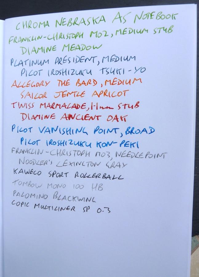 Chroma Nebraska ink test front