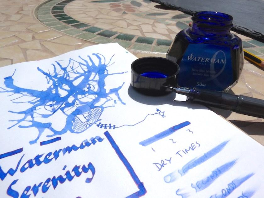 Waterman Serenity Blue ink review