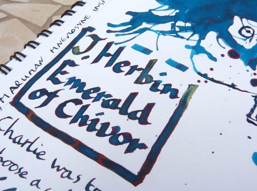 J Herbin Emerald of Chivor a hundred different colours