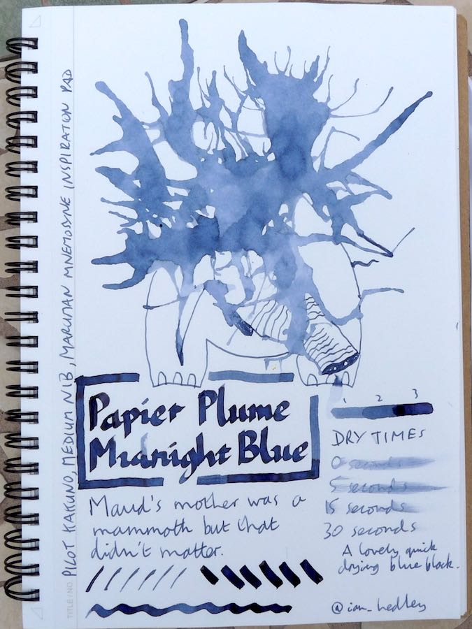 Papier Plume Midnight Blue Inkling