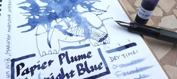 Papier Plume Midnight Blue ink review