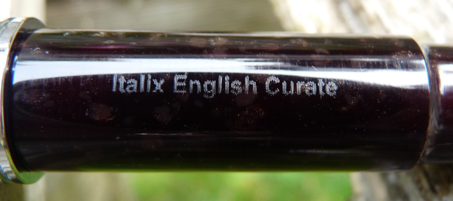 Italix English Curate barrel etching