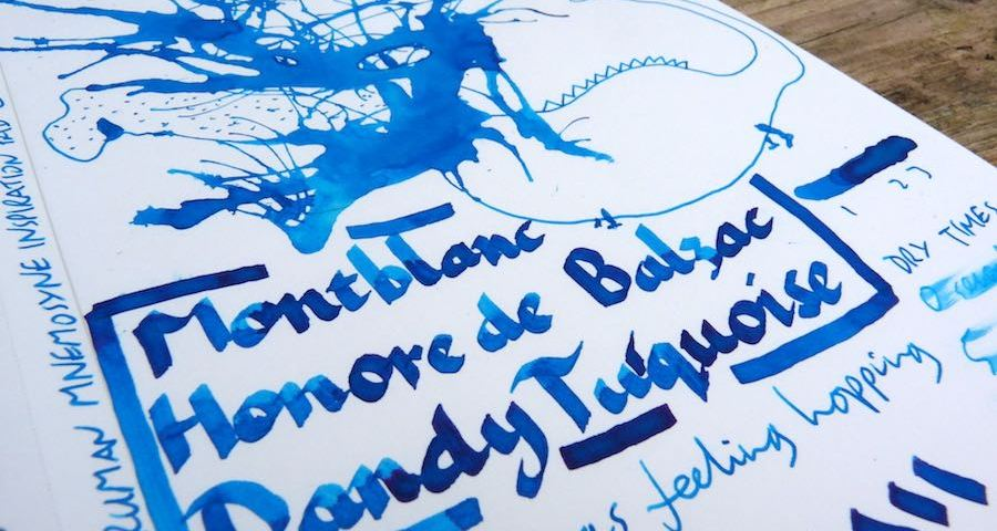 Montblanc Honore de Balzac Dandy Turquoise ink review