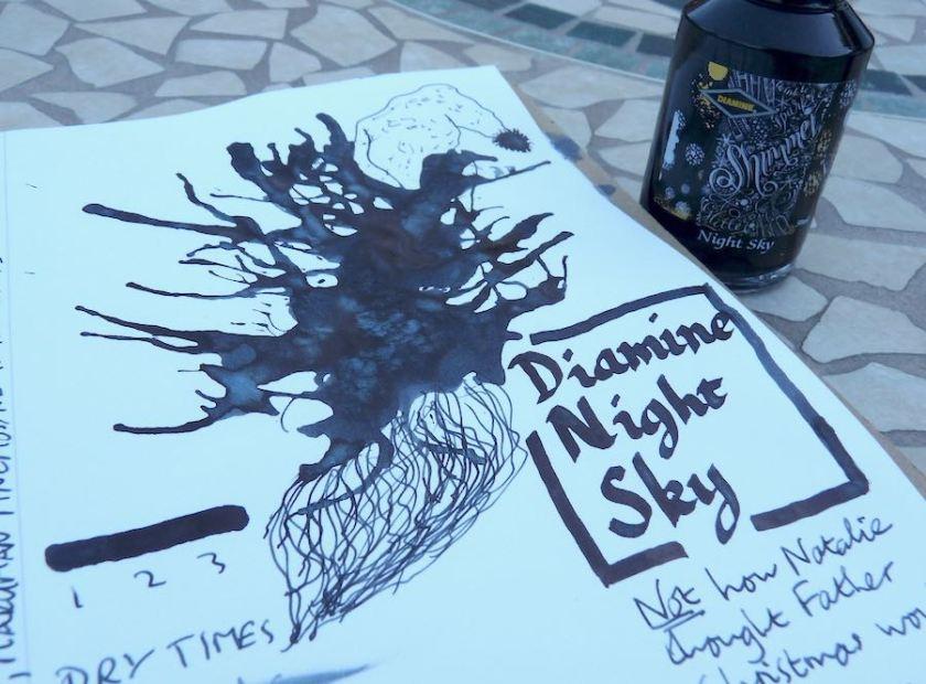Diamine Night Sky ink review