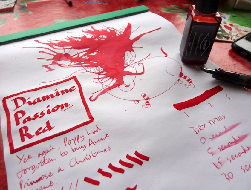 Diamine Passion Red ink review