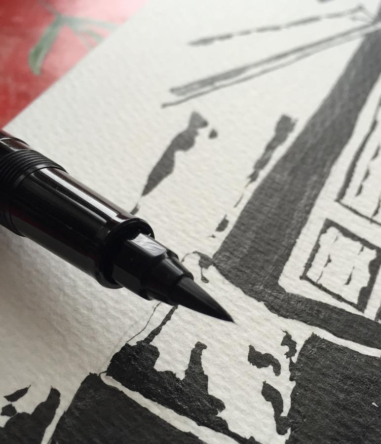 Sailor 1911 Brush Pen brush tip