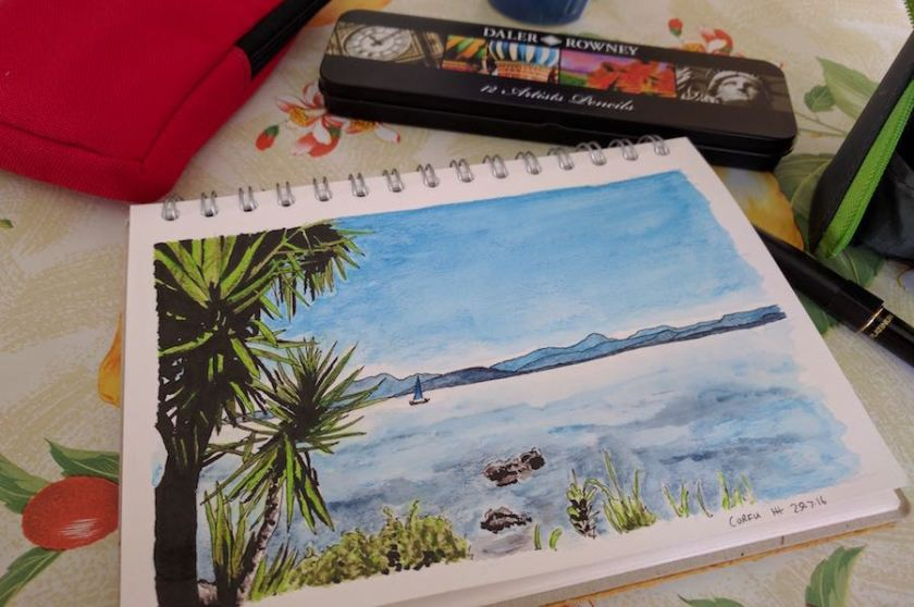 Peaceful Corfu with pencils