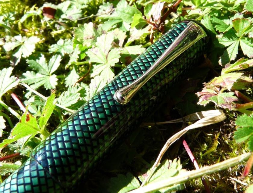 Twiss Green Lizard clip and cap