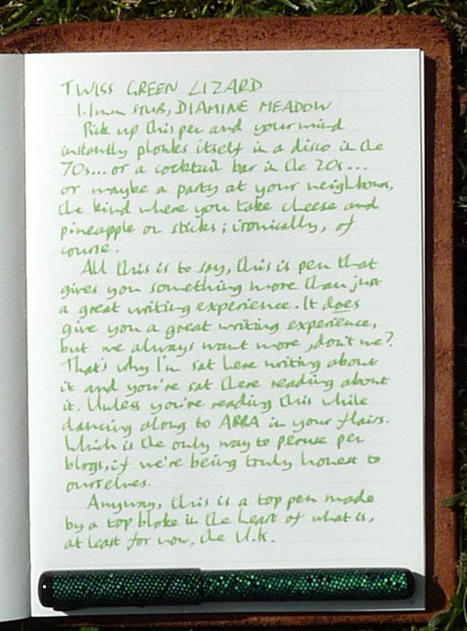 Twiss Green Lizard handwritten review