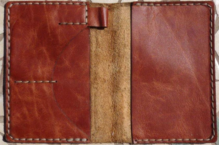 Galen wallet notebook empty open