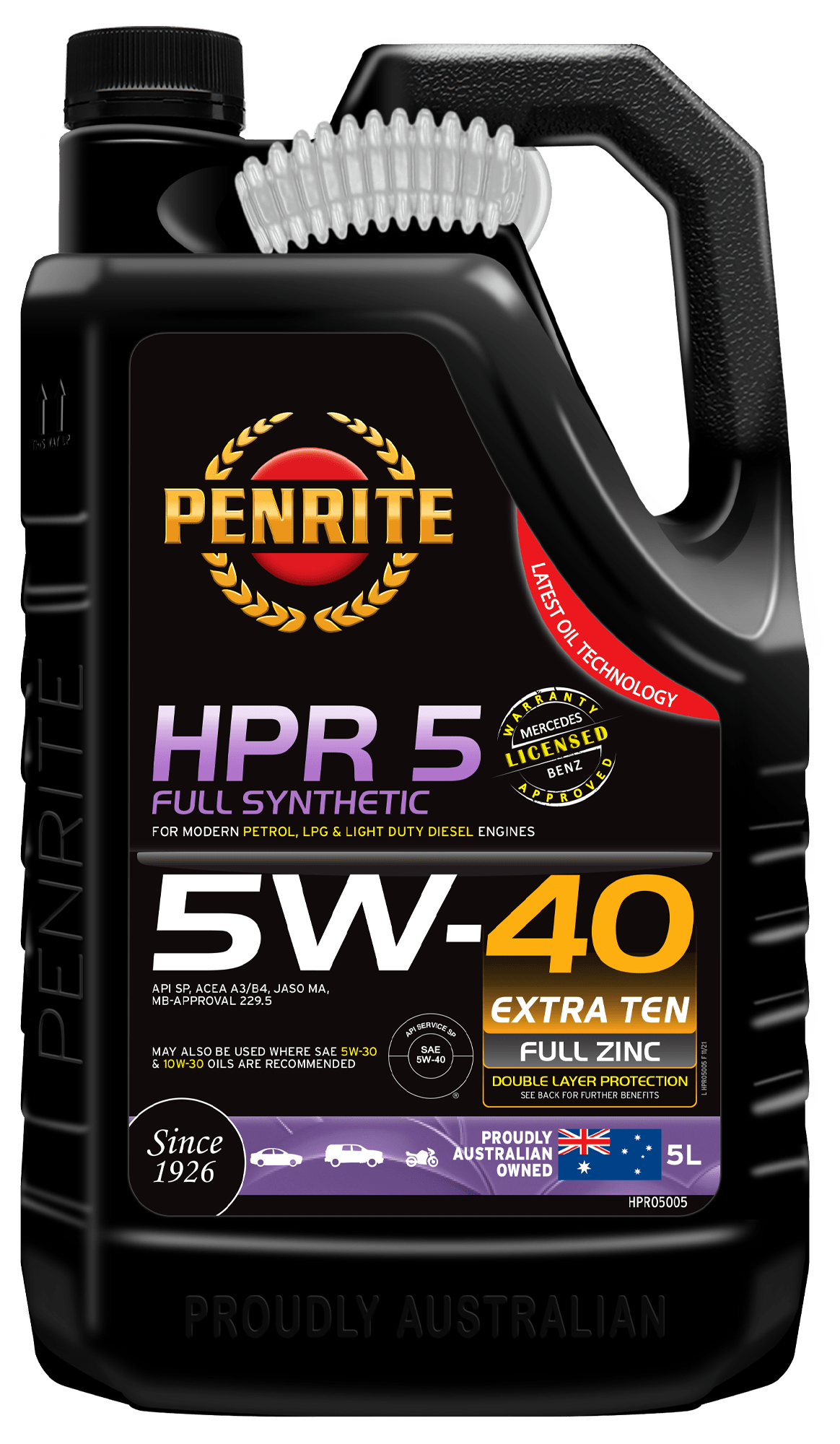 5 W 40 Hpr 5 5w 40 Full Synthetic Penrite Oil
