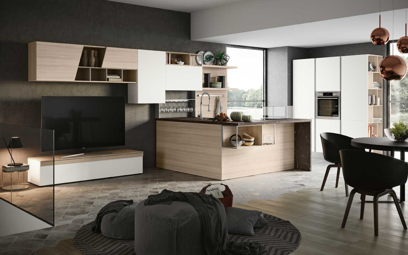 Arredamento Cucina 10 Mq | Flowing Open Interiors From Euromobil