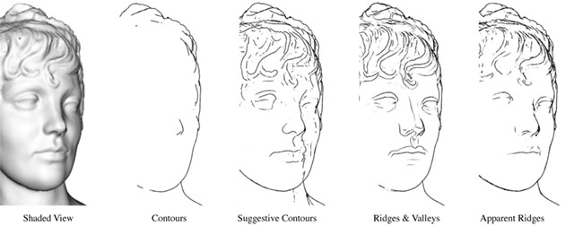 Apparent Ridges for Line Drawings - line drawing