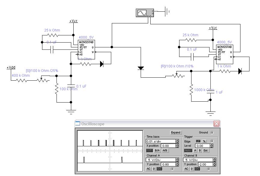 nor gate monostable circuit
