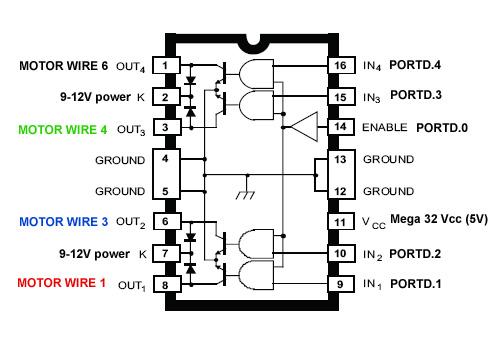 schematic wiring diagram l297 stepper motor controller circuits