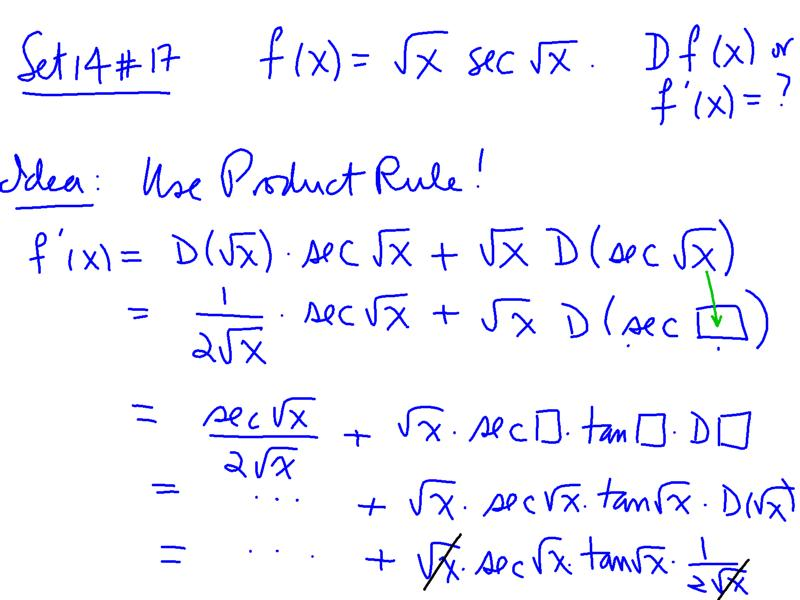 trigonometric functions and their derivatives