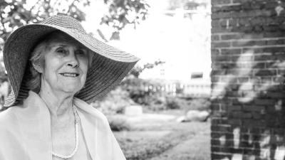 Maryman Kemp founder of Maryman House, a shelter for survivors of domestic violence. Interview in Anita's garden